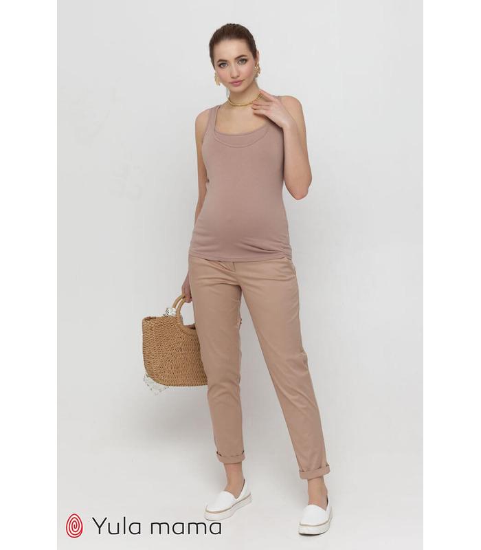 Штаны Эван BG, легкие бежевые штаны беременным