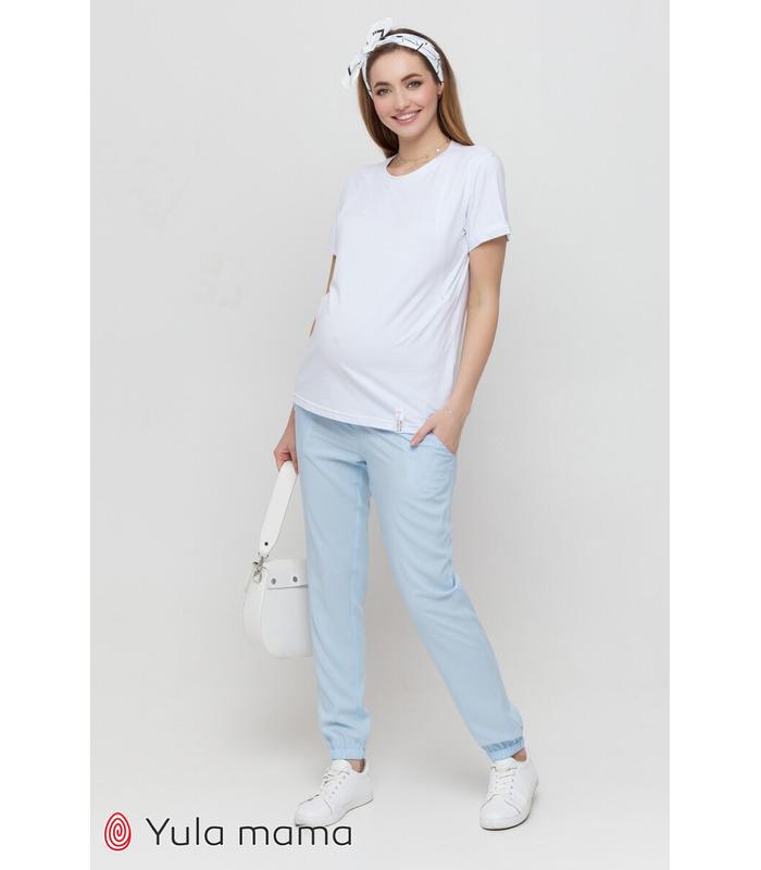 Штани Біом BB, блакитні штани вагітним
