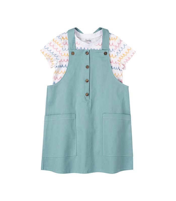 Комплект дитячий КП243, дитячий сарафан з футболкою