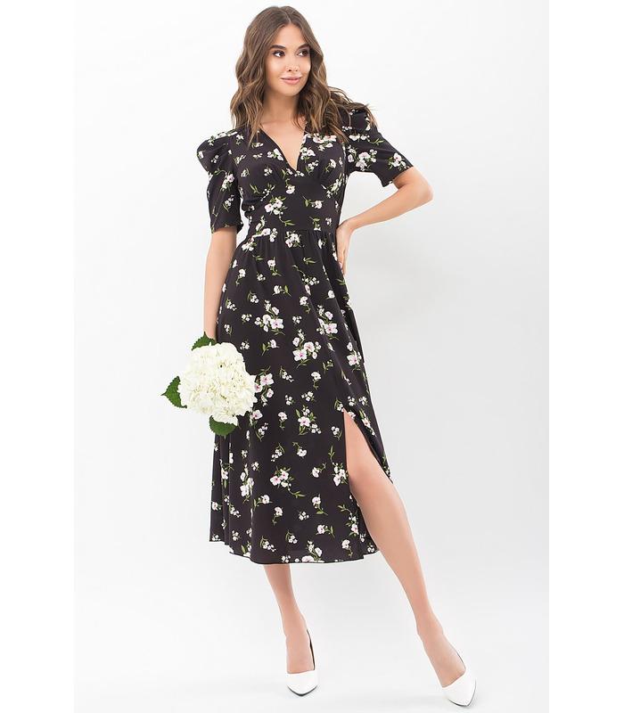 Сукня Фаріза CH, чорне плаття у квіточку