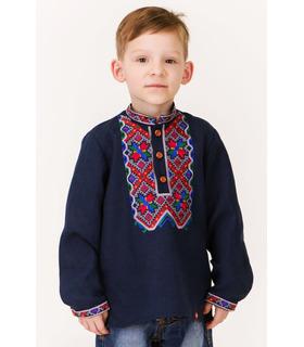 Дитяча вишиванка мод.7701,синяя детская вышиванка синя дитяча вишиванка