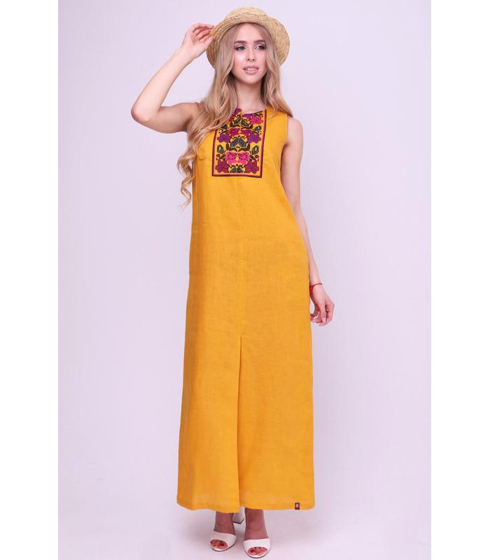 Вишита лляна сукня мод.5044