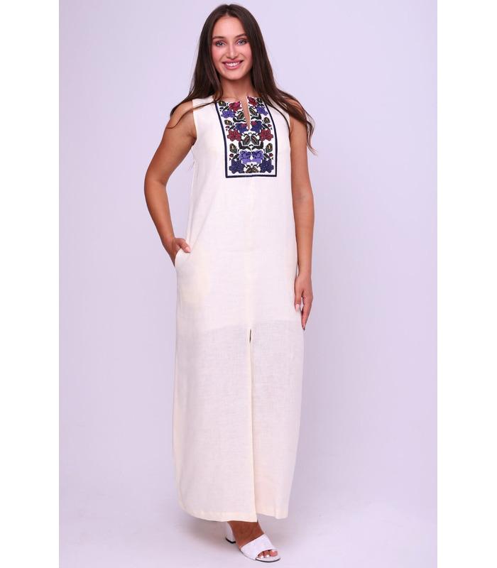Вишита лляна сукня мод.5043