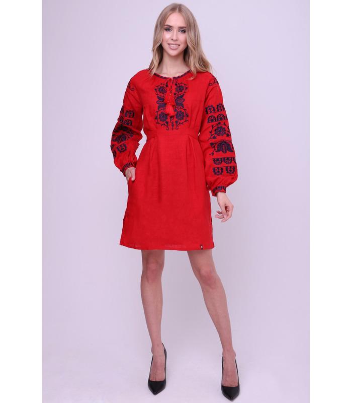Вишитое льняное платье мод.015