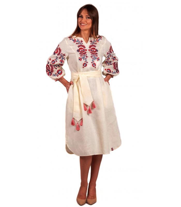 Вишита лляна сукня мод.5025