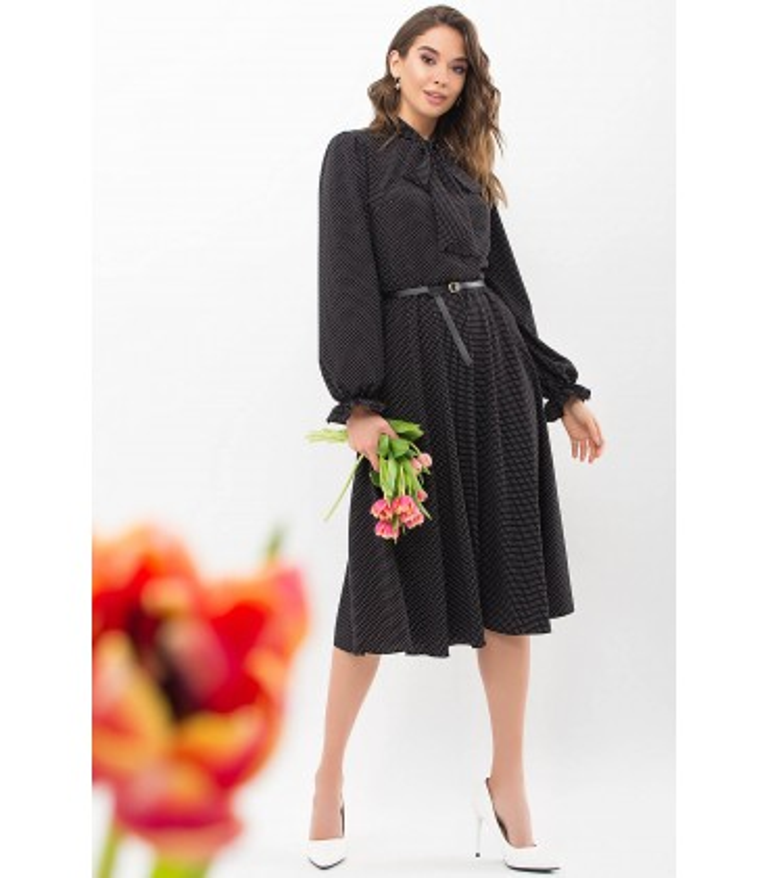 Сукня Дельфія CH, чорне плаття в горошок