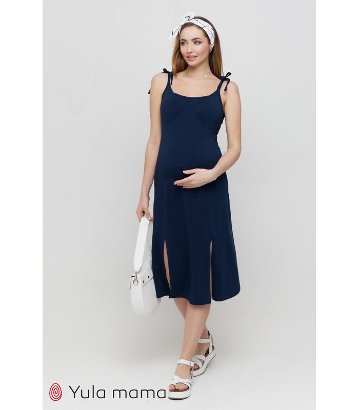 Сарафан Долорес TS, синій трикотажний сарафан вагітним та годуючим