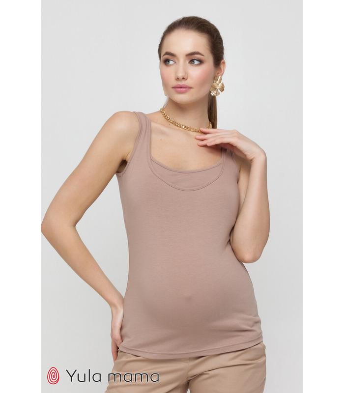 Майка Езра CA, коричнева майка вагітним та годуючим
