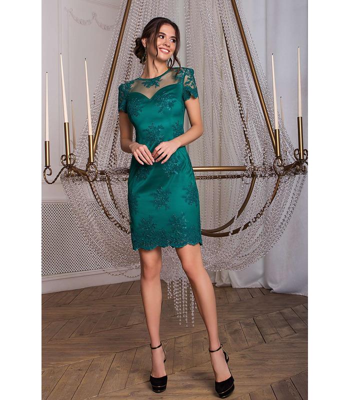 Платье Микея GR, вечернее зеленое платье-футляр