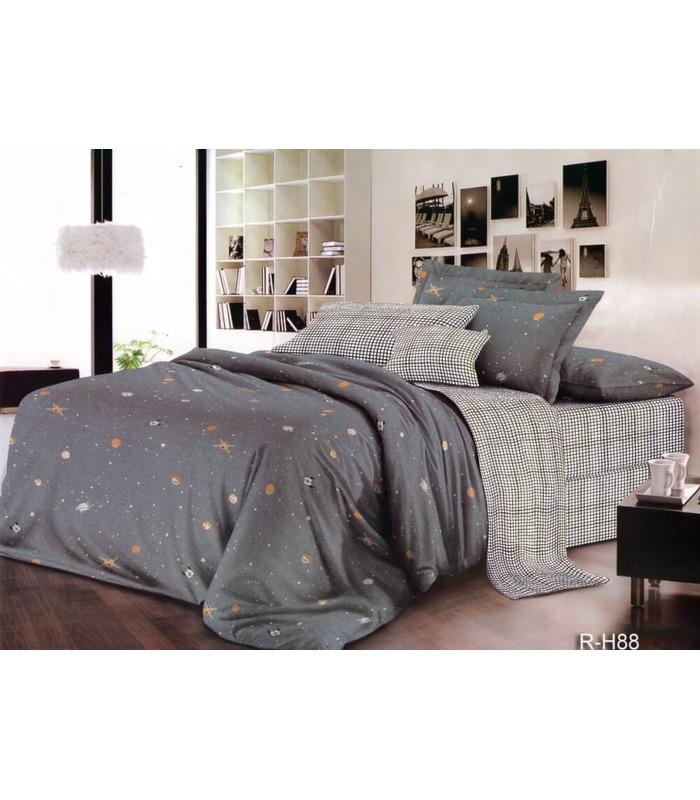 """Комплект постельного белья """"Space"""" ᐉ ранфорс, хлопок, возможен индивидуальный пошив"""