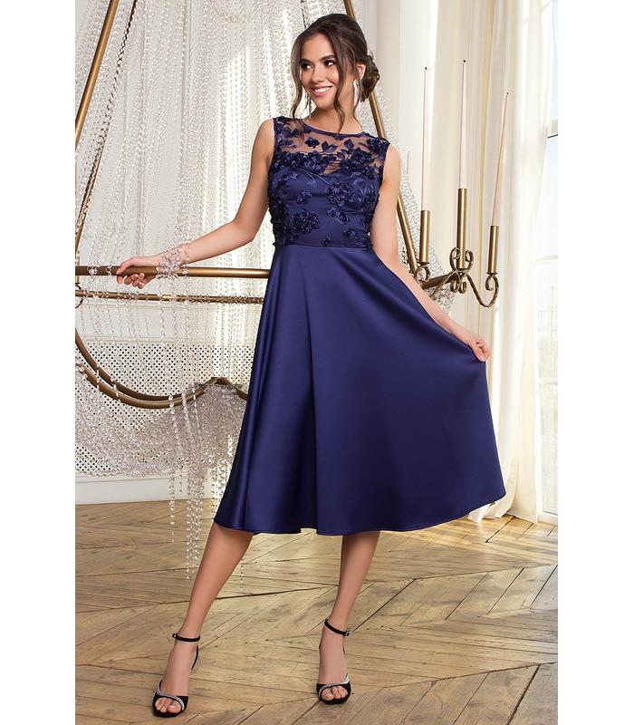 Платье Пайпер TS, синее выпускное платье