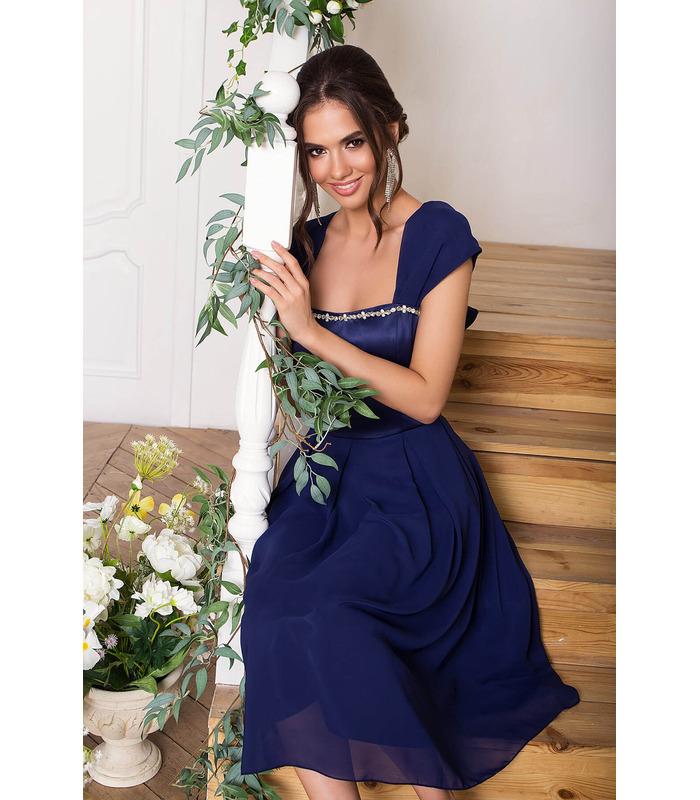 Платье Рузи TS, синее вечернее платье