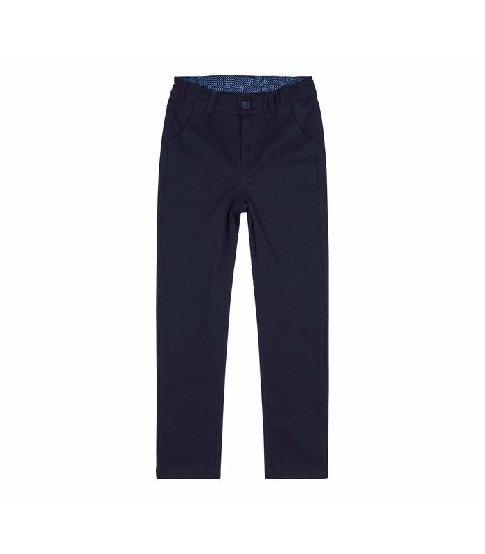 Штаны детские ШР581, коттоновые синие детские брюки