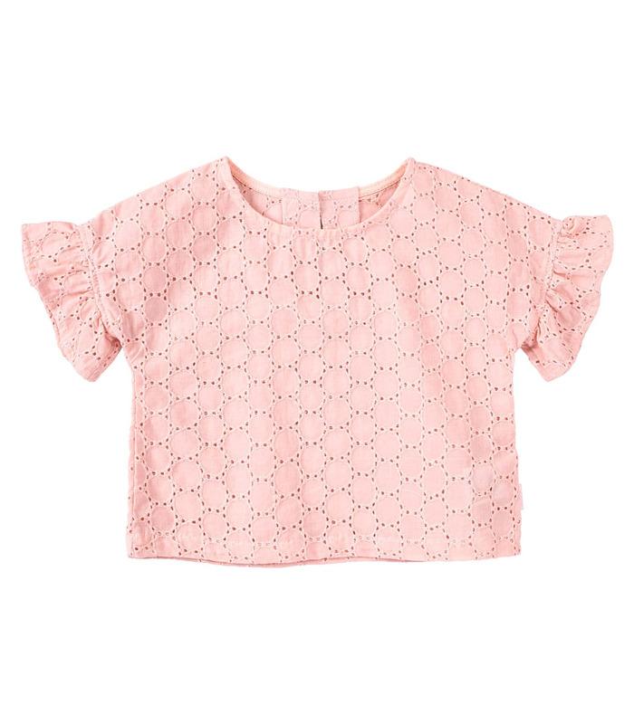 Блуза детская РБ152, летняя детская блуза из прошвы