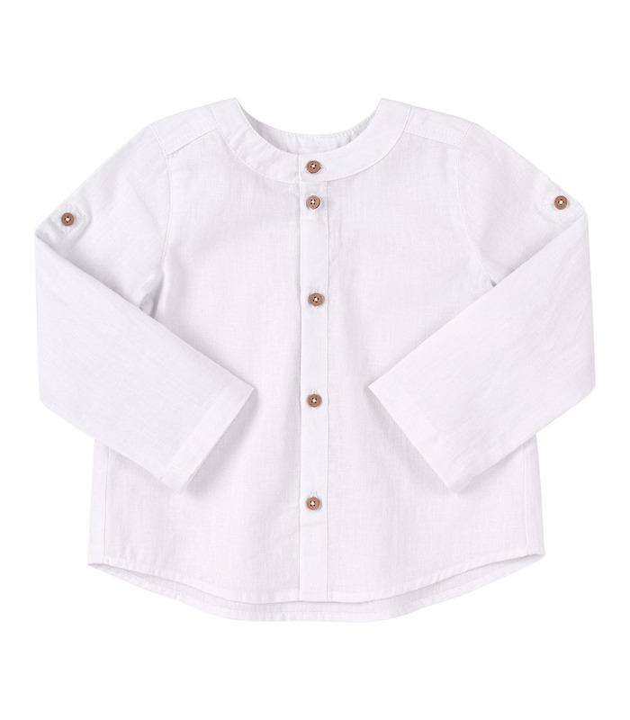 Рубашка детская РБ149 WH, детская льняная рубашка