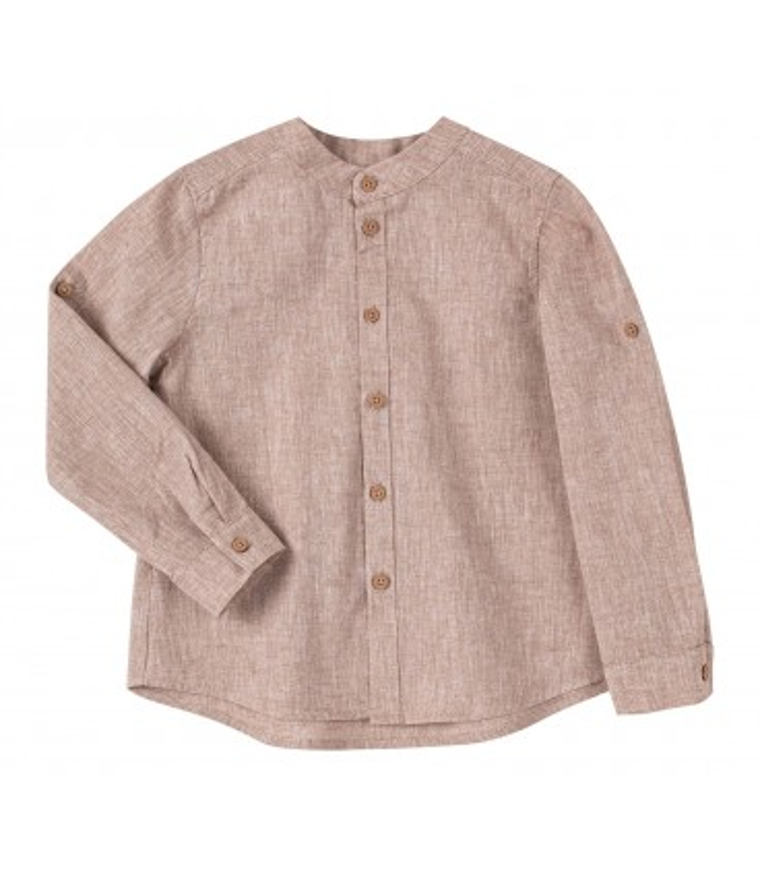 Рубашка детская РБ150 BG, бежевая детская рубашка из льна