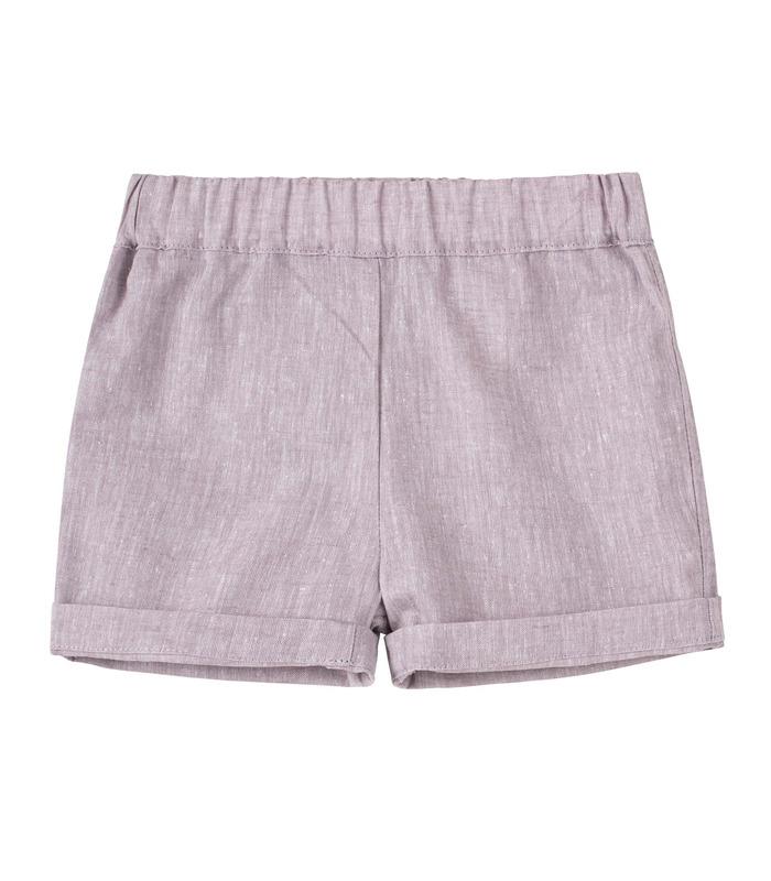 Шорты детские ШР707 GR, серые детские шорты из льна