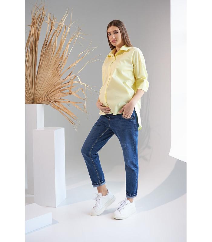 Рубашка Жуст YE, желтая рубашка беременным