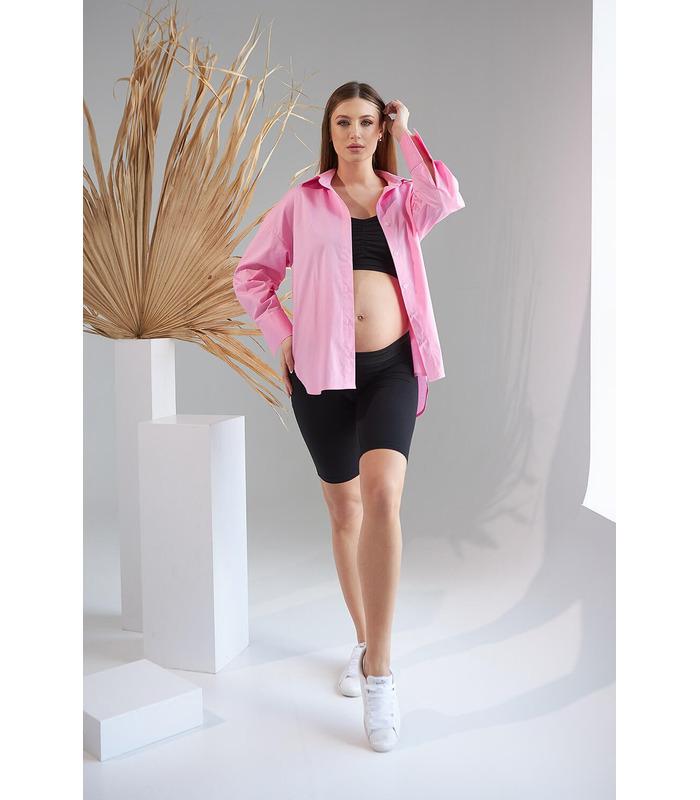 Рубашка Жуст RO, розовая рубашка для беременных