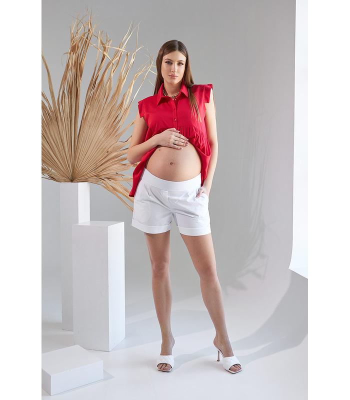 Шорты Грас, белые шорты беременным