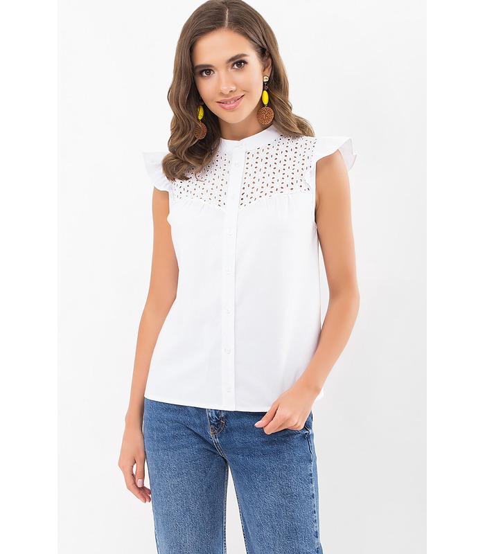 Блуза Млада, белая блуза без рукава