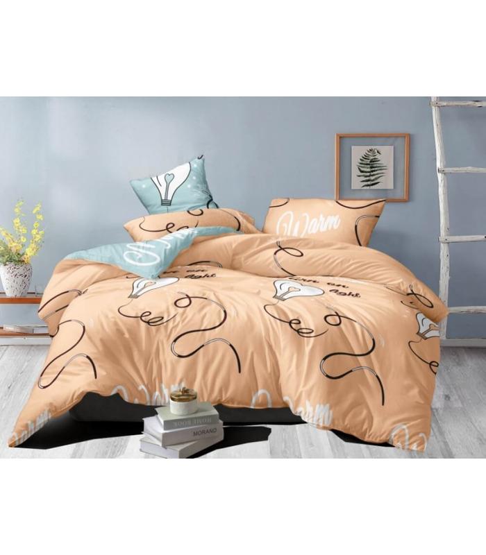 Комплект постельного белья Disco ᗍ сатин ※ Украина, натуральная ткань