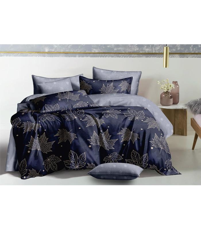 Комплект постельного белья Кленовый лист ᗍ сатин ※ Украина, натуральная ткань