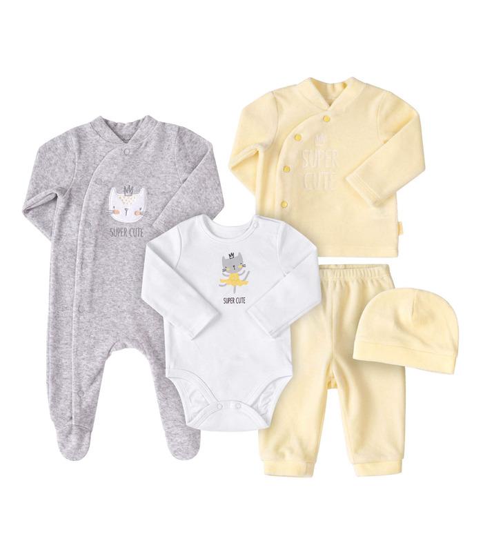 Комплект дитячий КП244 YE, велюровий набір дитячого одягу