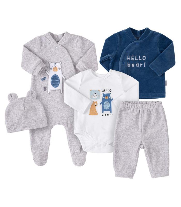 Комплект дитячий КП245 TS, велюровий комплект немовлятам хлопчикам