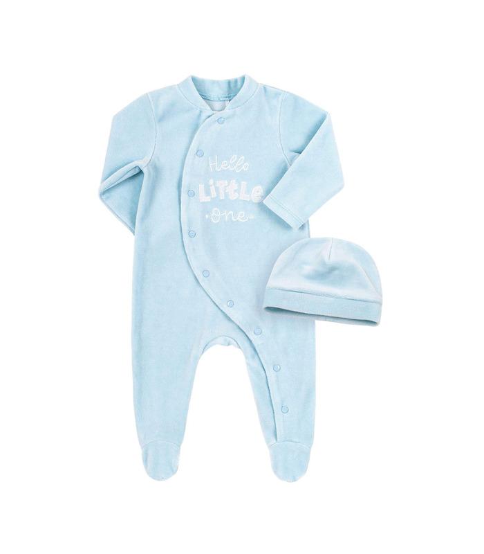 Комплект дитячий КП246 BB, блакитний велюровий набір малюкам