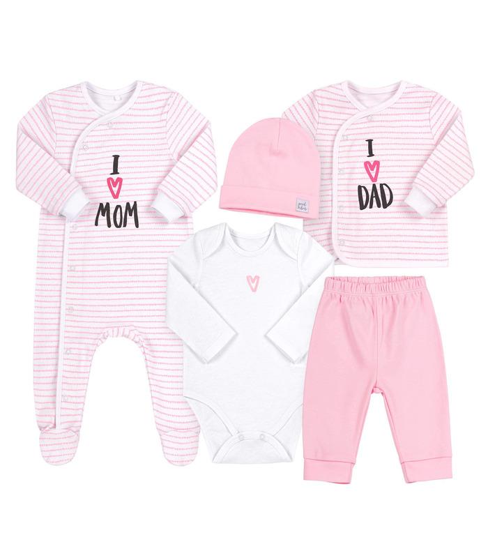 Комплект дитячий КП250 RO, рожевий набір малюкам