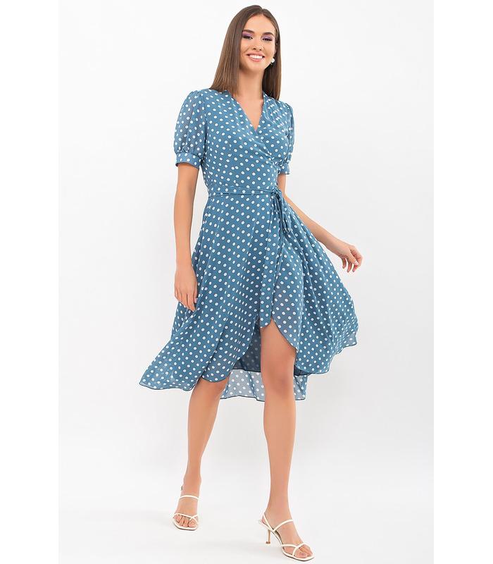 Платье Алеста-1 BI, шифоновое платье на запах