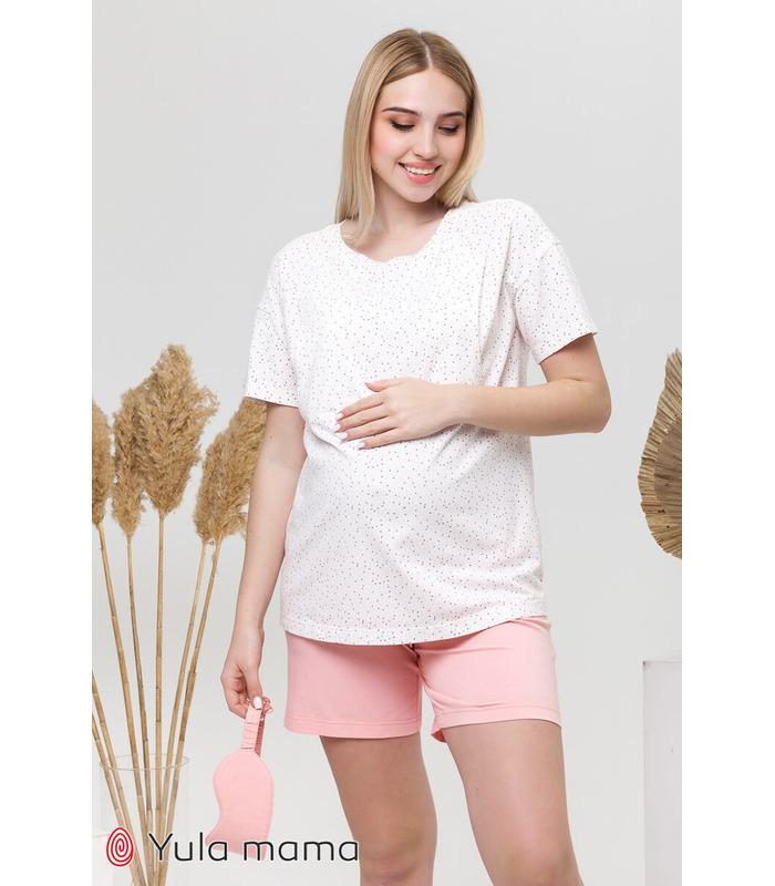 Пижама Дженис RO, розовая пижама беременным и кормящим