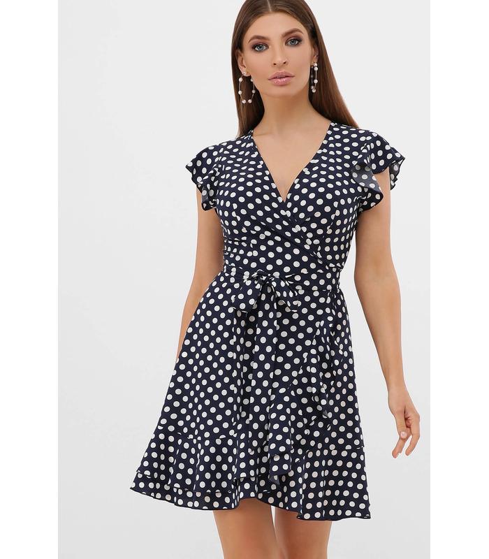 Сукня Софія 1 TT, коротка сукня в горошок