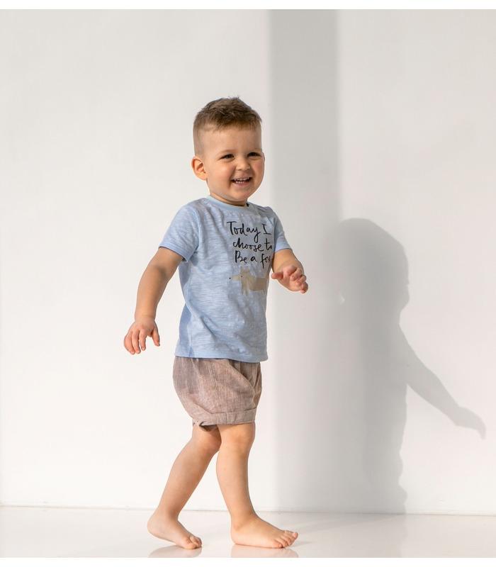 Футболка детсккая ФБ851 BB, голубая детская футболка