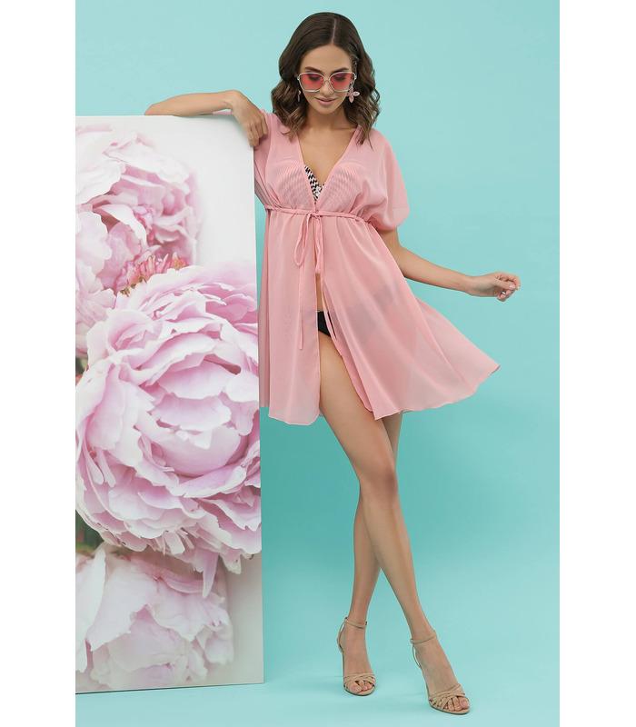 Пляжная туника №1-1 RO, розовая пляжная туника