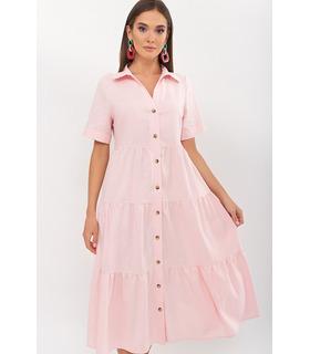 Сукня Іветта PP, рожева літня сукня з льону