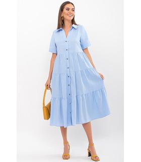 Сукня Іветта BB, літня блакитна сукня з льону