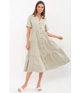 Сукня Іветта OL, літнє лляне плаття оливка