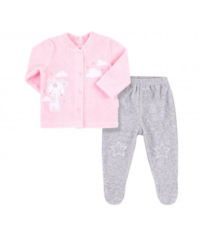 Костюм дитячий КС660 RO, рожевий дитячий костюм з велюру