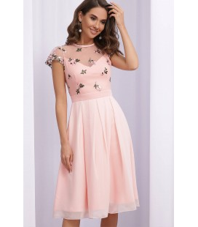 Сукня Айседора PP, нарядне персикове плаття