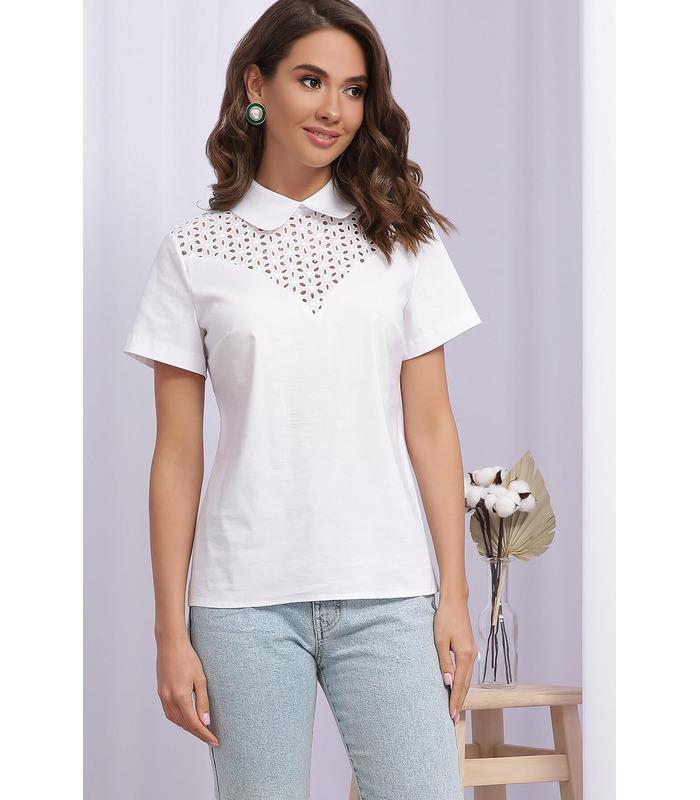 Блуза Сейхана, белая летняя блуза