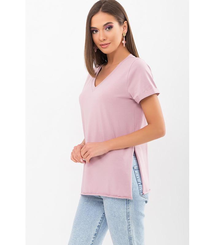 Футболка Сиренія RO, рожева футболка з розрізами