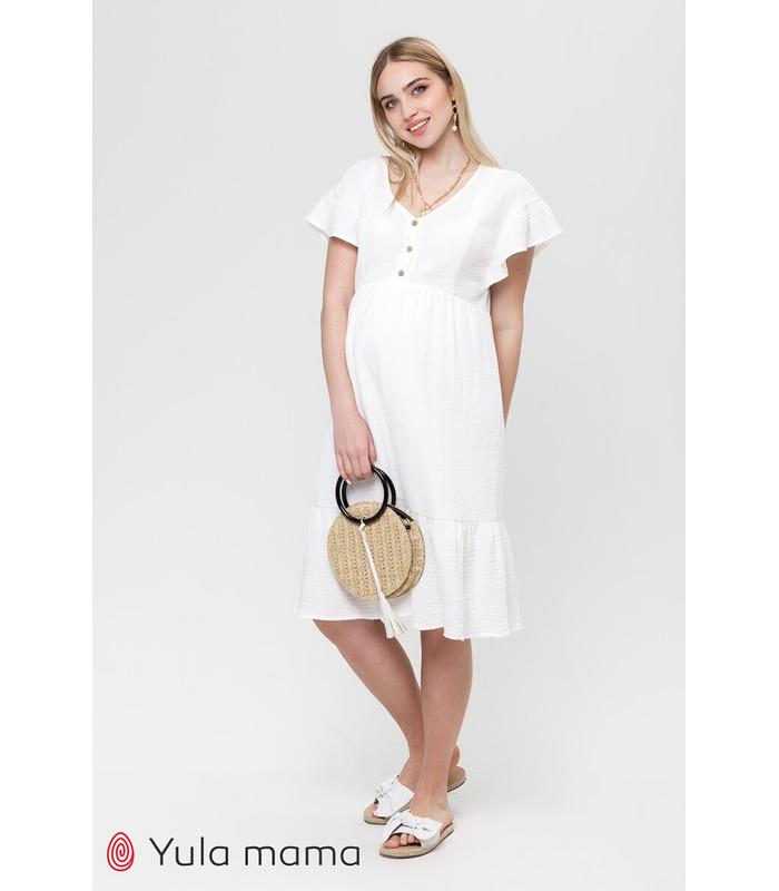 Платье Фелисити MI, летнее платье из муслина беременным и кормящим