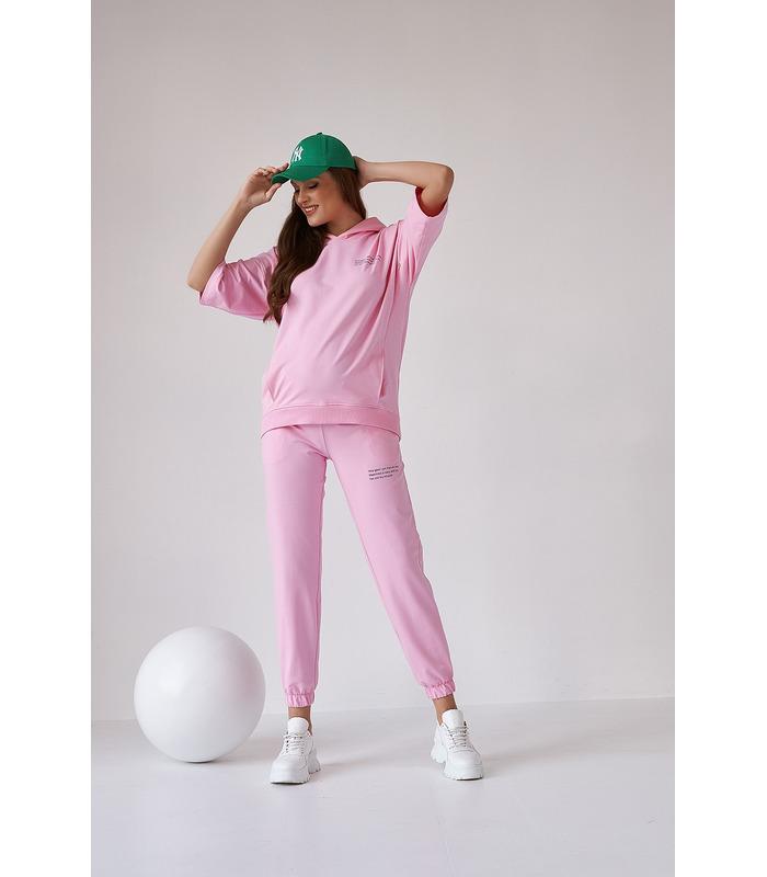 Худи Рената RO, розовое худи беременным