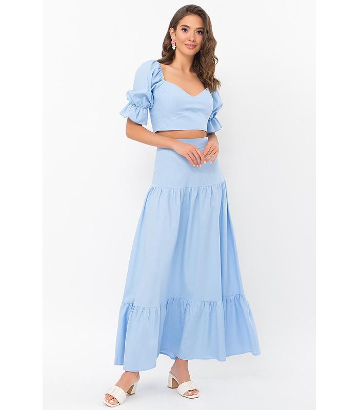 Костюм Файлі BB, блакитний жіночий костюм