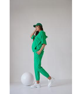Костюм Рената GR, зелений костюм вагітним весна/літо