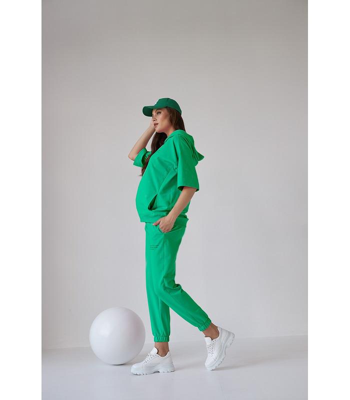 Костюм Рената GR, зеленый костюм беременным весна/лето