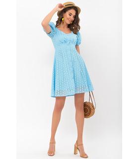 Сукня Една BB, коротка блакитна сукня з прошви