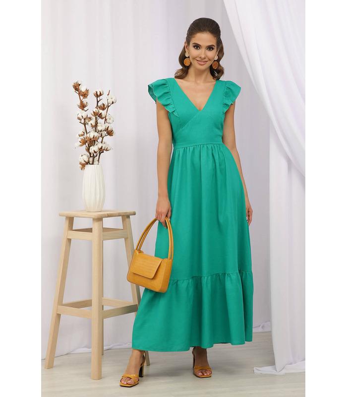 Сарафан Оділія GG, зелений літній сарафан
